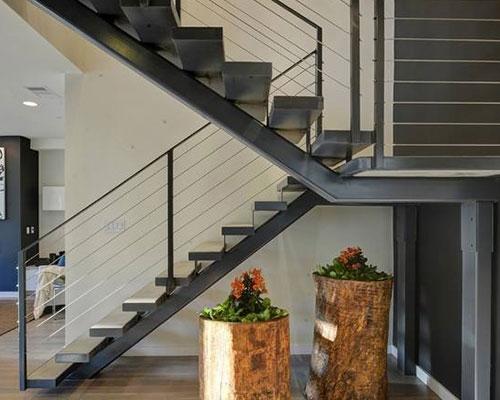 高安钢结构楼梯设计